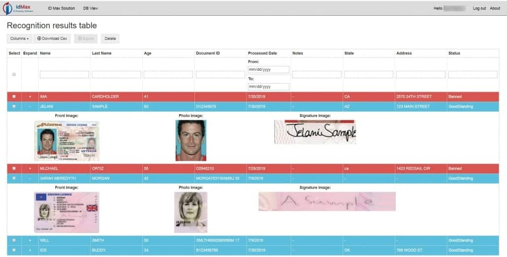 id scanning software